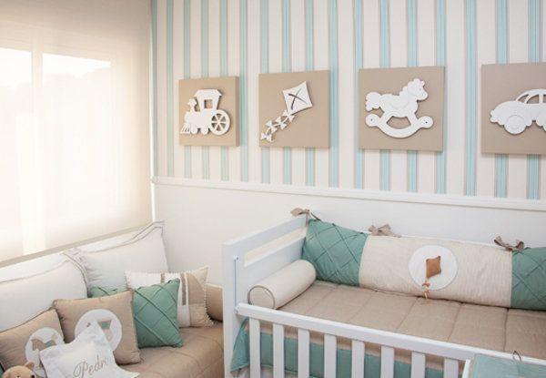 Faixa de parede para quarto de bebe for Cortina verde agua