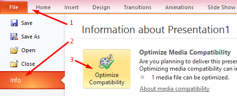 optimisasi media di powerpoint