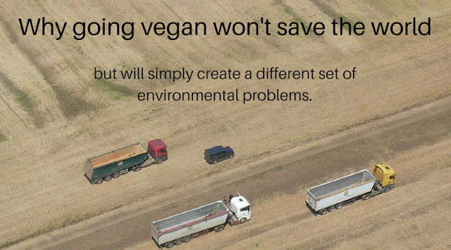 A vegan diet leads to its own set of environmental problems