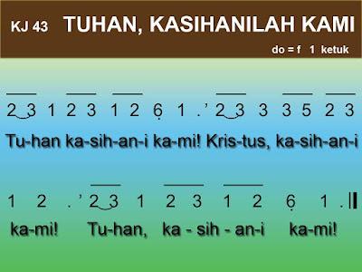 Kord Gitar Kidung Jemaat 43 Tuhan Kasihani Kami