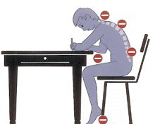 Cómo no debemos sentarnos