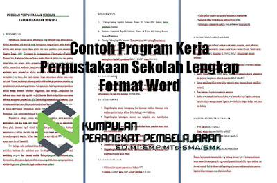 Contoh Program Kerja Perpustakaan Sekolah Lengkap Format Word