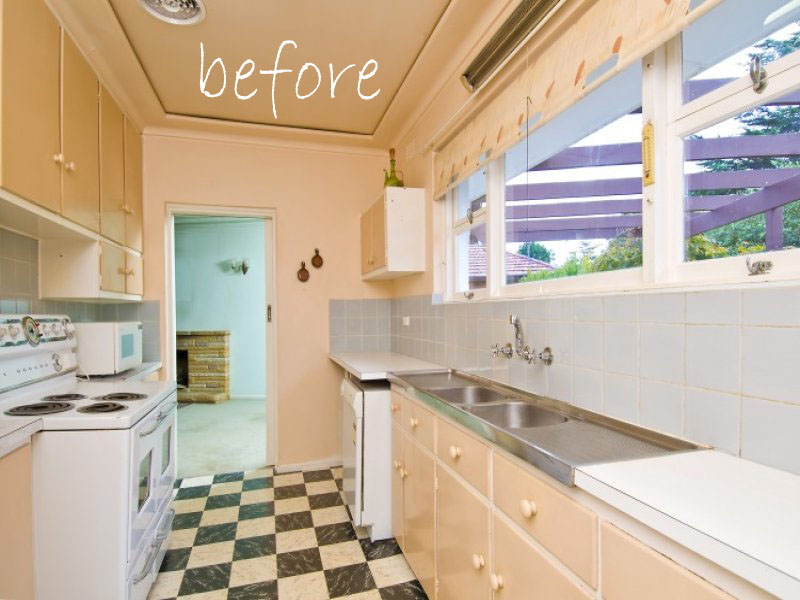 Remodelaholic | Compact Kitchen Remodel: Taking Advantage Of All ...