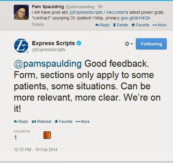 Pam Spaulding: UPDATE on ExpressScripts/Accredo's power grab