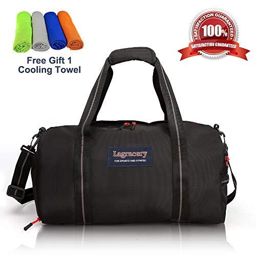 217d34085a69b La Gracery Sports Gym Bag Shoes Compartment & Dry Wet Separation Layer  Waterproof Travel Duffel Bag ...