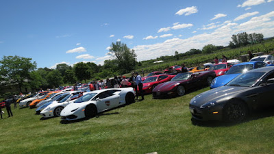 Exotic cars at Peller Estates