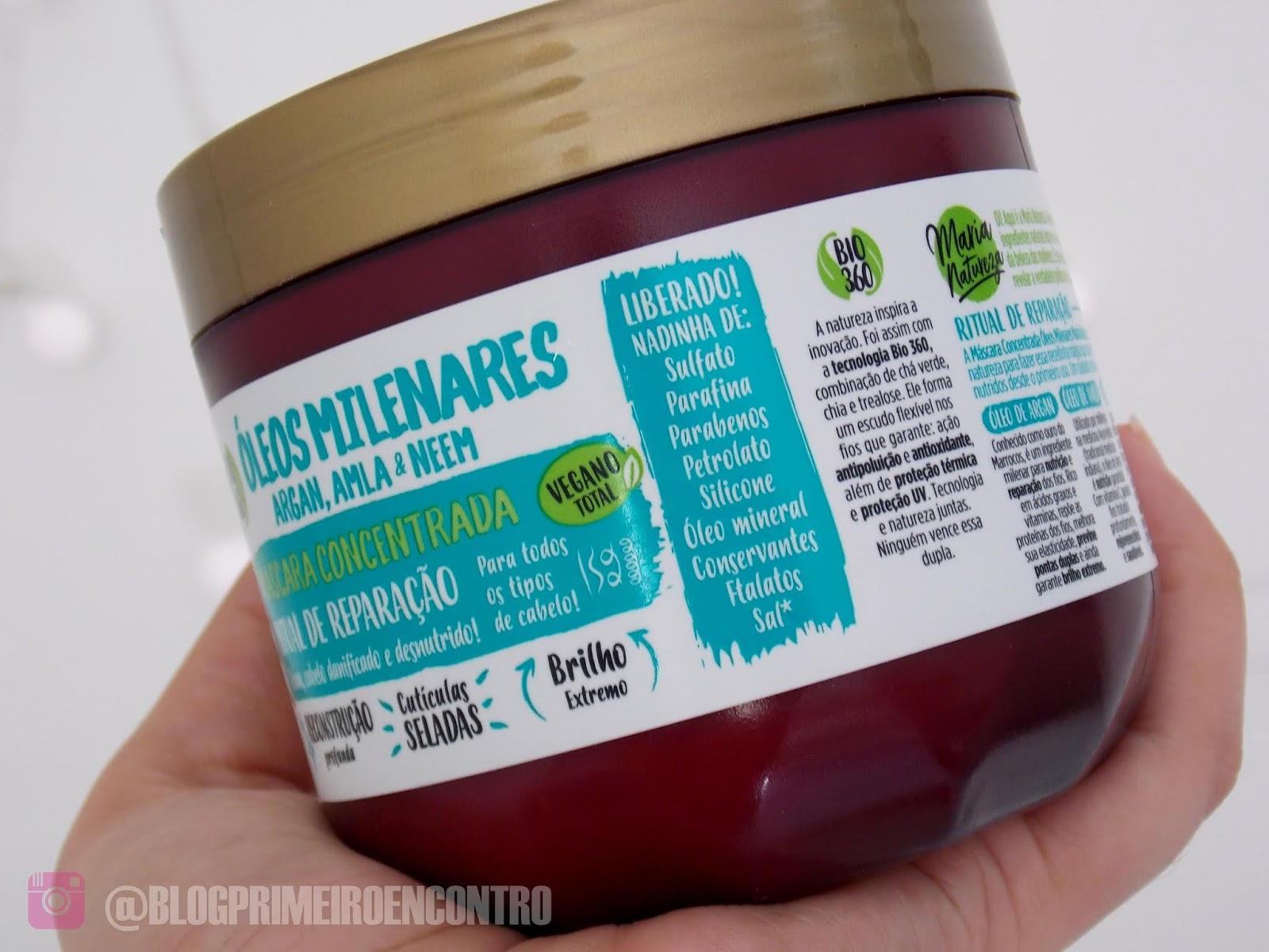 eb015c44e Creme de Hidratação Óleos Milenares - linha Maria Natureza da Salon Line +  VINAGRE DE MAÇÃ