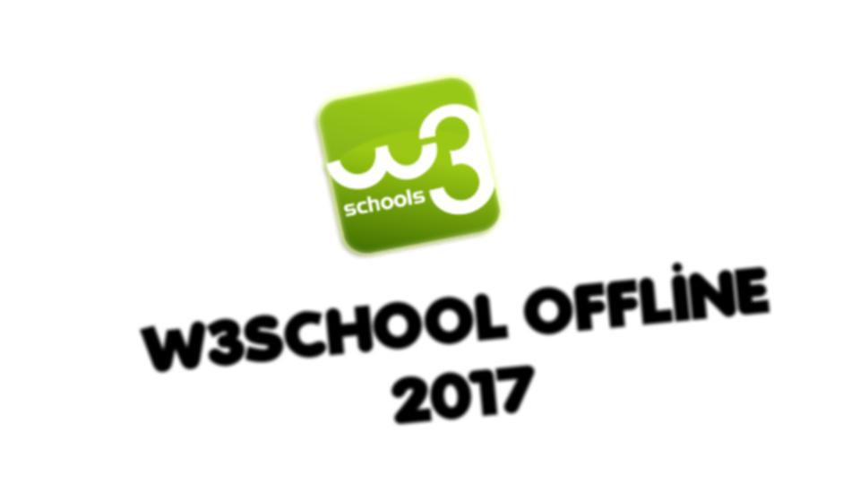 W3SCHOOLS Offilne 2017