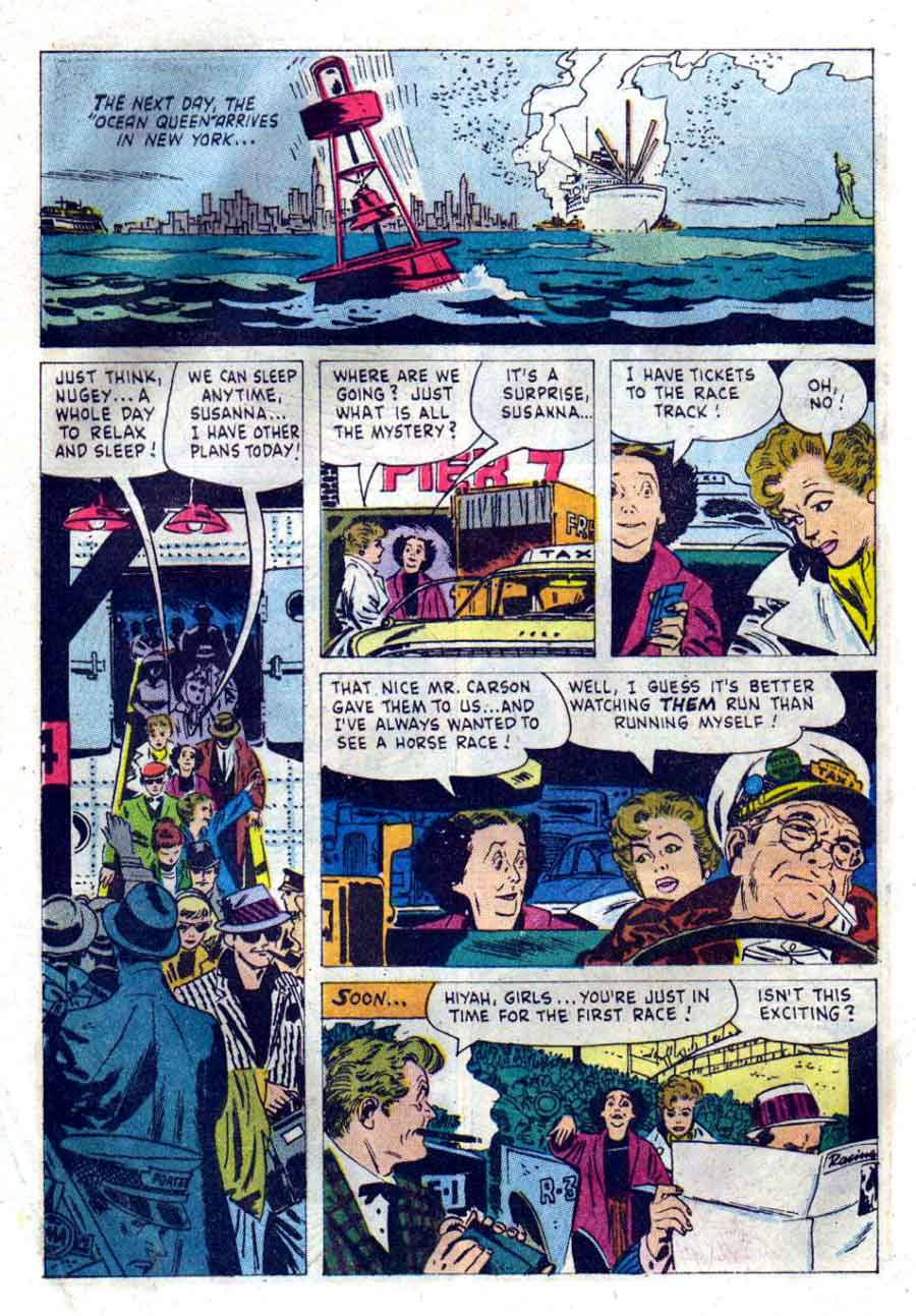 Gale Storm / Four Color Comics #1105 dell tv comic book page art by Alex Toth
