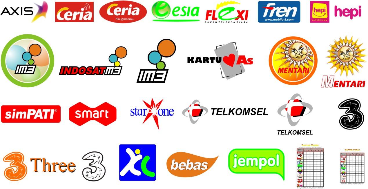Logo Operator Seluler Indonesia  masjogoblogspotcom