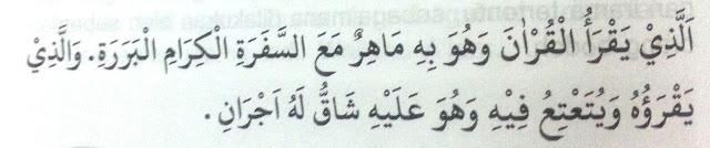 Kedudukan Pembaca Al-Qur'an di sisi Allah
