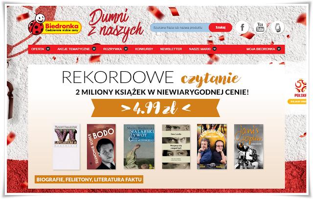 Rekordowe czytanie - czyli książki za 4,99 w dyskontach Biedronki!!