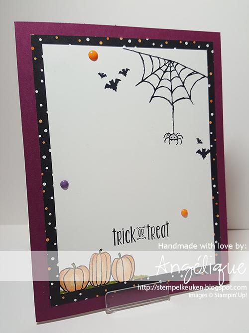 http://stempelkeuken.blogspot.com Stempelkeuken, Spooky Fun, Halloween, Halloween Scares, Halloween Night, DSP, Enamel Dots