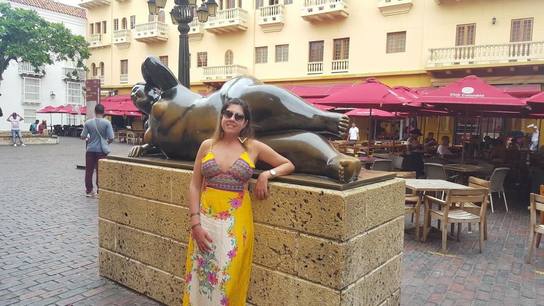 Escultura de Fernando Botero na Plaza Santo Domingo - Cartagena