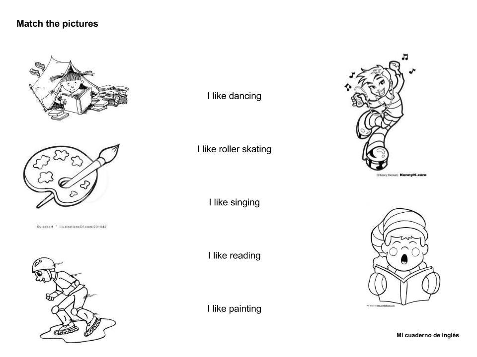 Acciones En Ingles Para Colorear Acciones En Ingles Y