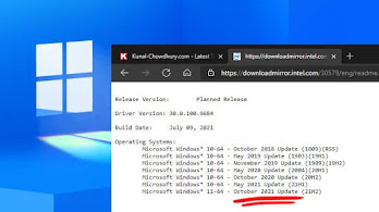 Windows 11 may release in October; a hint comes from Intel's driver documentation
