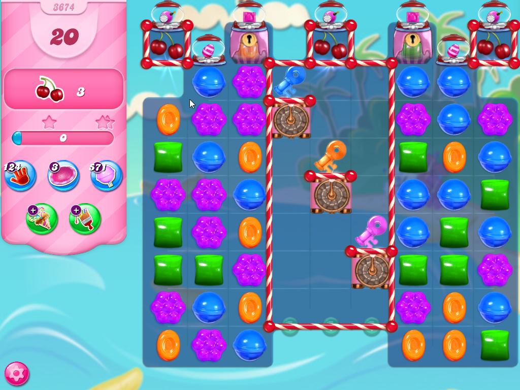 Candy Crush Saga level 3674