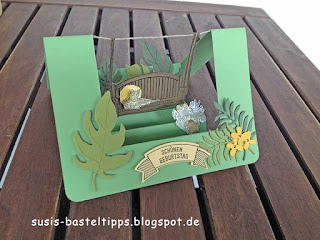 swing porch hollywood schaukel karte mit stampin up stempel set stille momente