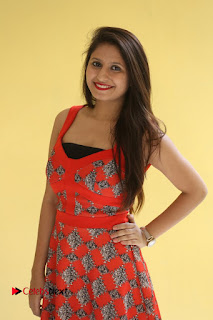 Actress Shaheena Pictures in Red Dress at V Movie Press Meet  0004.JPG
