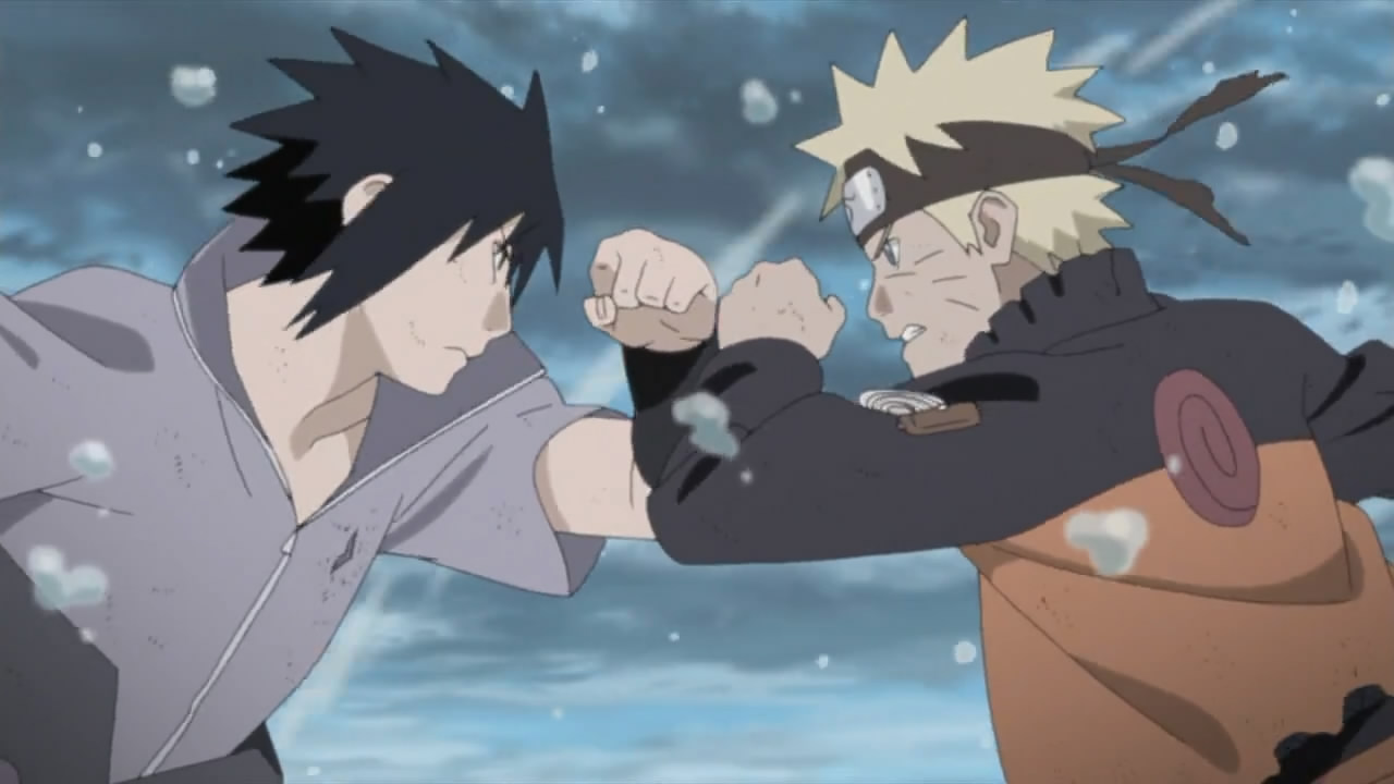 Screenshot Naruto vs Sasuke, Start Fight Naruto Shippuden Episode 476 Subtitle Bahasa Indonesia 1080p - www.uchiha-uzuma.com