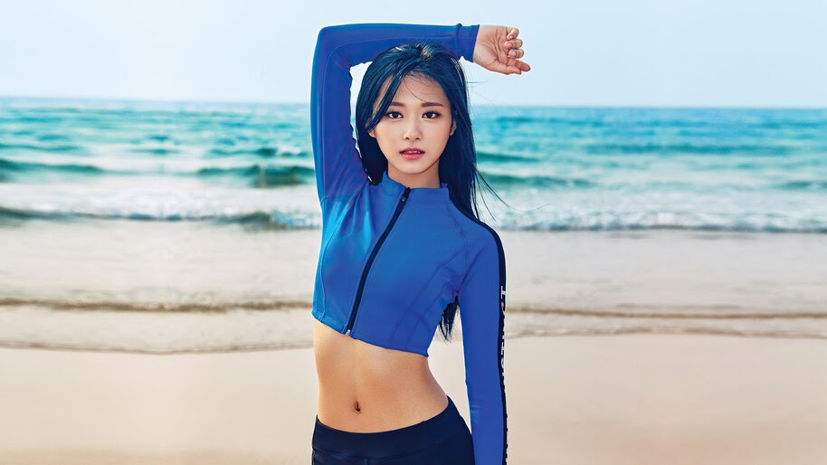 Tzuyu, TWICE, K-Pop, Girl, Swimsuit, 4K, #6.866