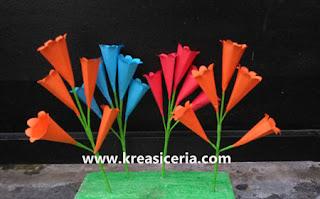 Ide Kreatif Membuat Prakarya Bunga Terompet dari Kertas