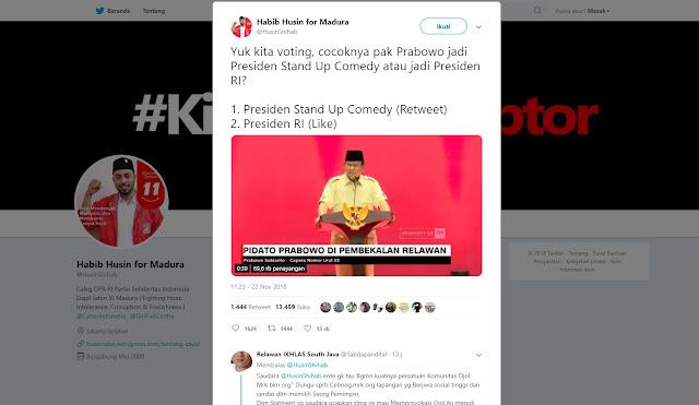 Niatnya 'Jatuhkan' Prabowo dengan Polling, yang Terjadi Malah Begini