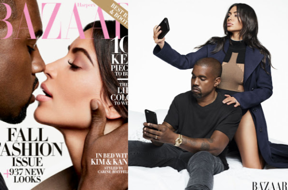 'Kim not taking nude selfies would be like Adele not singing' – Kanye says as he covers Harper's Bazaar with Kim