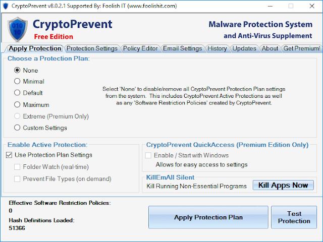 CryptoPrevent 8.0.4.0 | Protege tu equipo contra el malware Cryptolocker y otros Ransomware