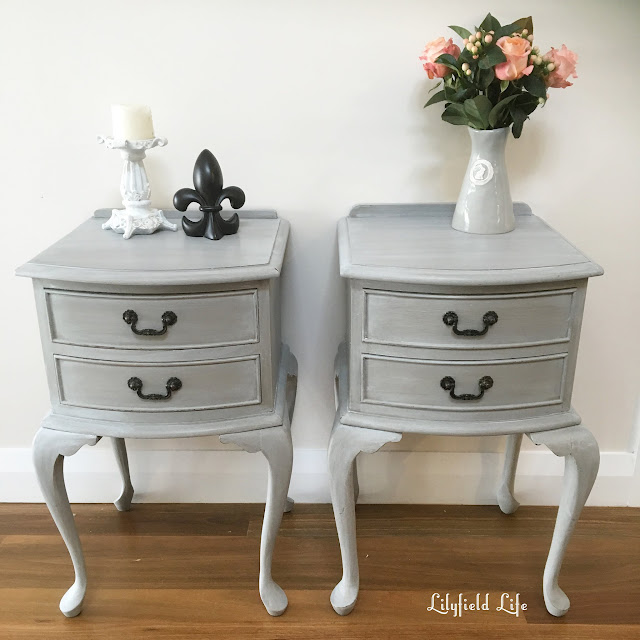 Lime washed french bedside tables Lilyfield life