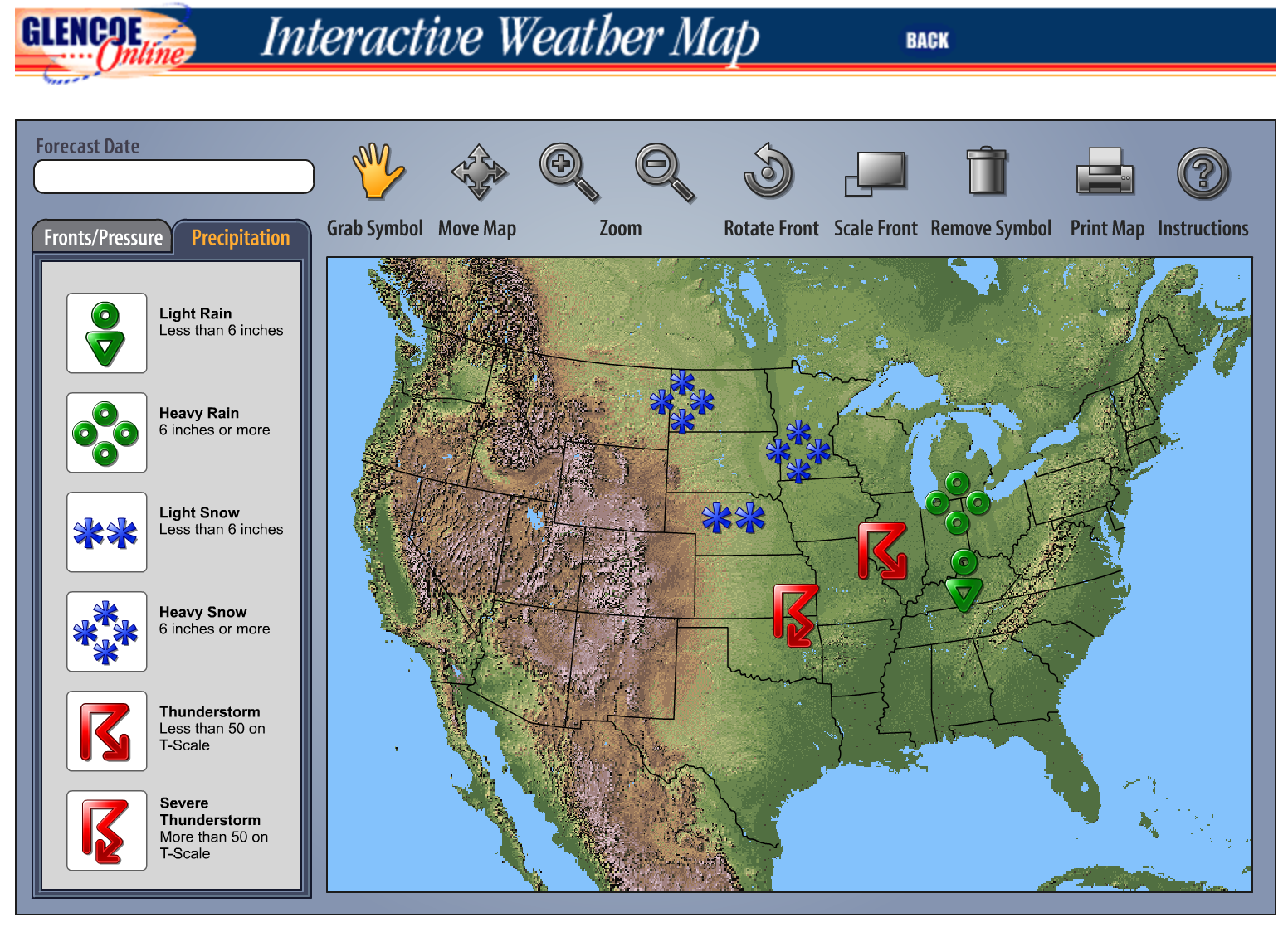 Interactive Weather Map