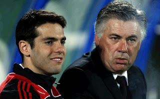 Ancelotti and Kaka. Milan AC