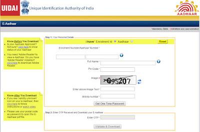 Aadhar Card Form Pdf Gujarat