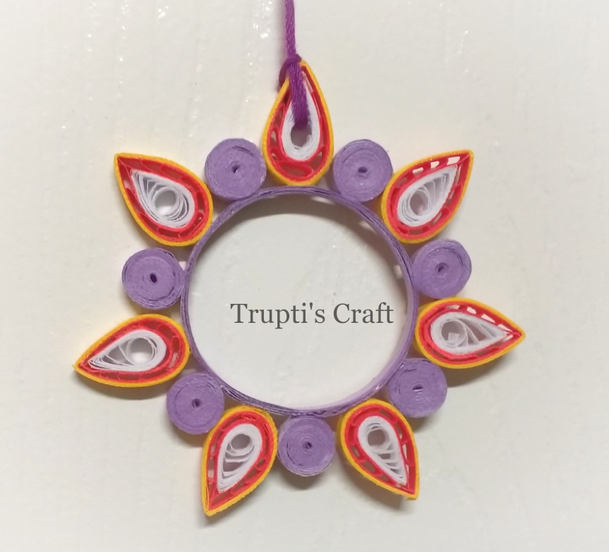 Trupti\'s Craft: Paper Quilling Candle Holder / Wall Hanging / Car ...