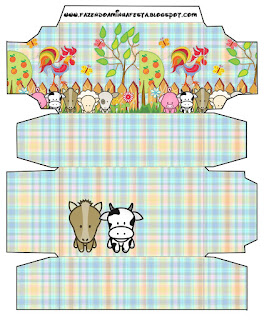 Cajas de La Granja Bebés en Celeste para imprimir gratis.