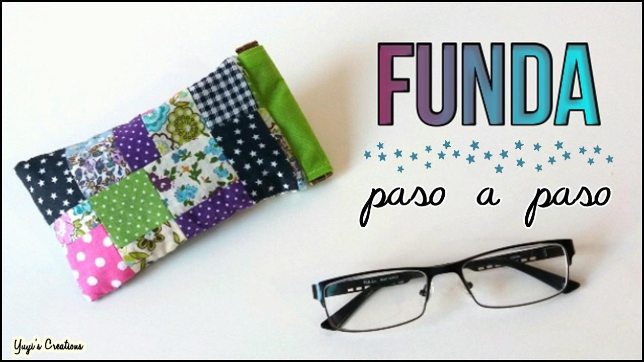 Yuyi\'s Creations: Funda para gafas con retales de tela.