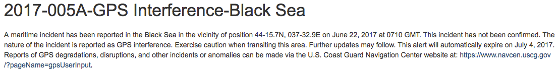 GeoGarage blog: Mass GPS spoofing attack in Black Sea?