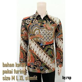 Model Baju Batik Pria Lengan Panjang