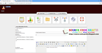 Download Gratis Source Code Web Berita PHP & MySQL