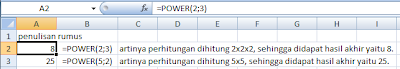 rumus POWER excel ,rumus power pada excel, rumus power dalam excel, fungsi rumus power pada excel, rumus power di excel