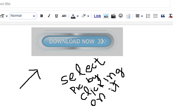 how to add download button in blogger post