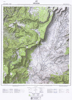ARGANA Morocco 50000 (50k) Topographic map free download