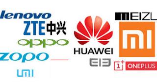 marche di cellulari cinesi