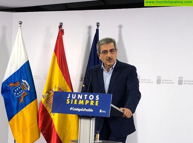 """Rodríguez: """"El reconocimiento a Canarias en el presupuesto europeo 2021-2027 y el Plan de Recuperación son excelentes noticias"""""""