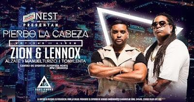 ZION & LENNOX TOUR PIERDO LA CABEZA EN BOGOTA