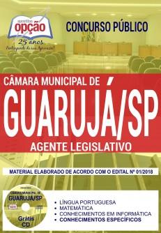 Apostila Câmara de Guarujá 2018 Agente Legislativo
