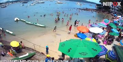 câmera ao vivo da praia da sepultura