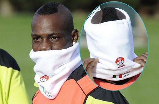 Mario Balotelli's personalised 'Super Mario' snood