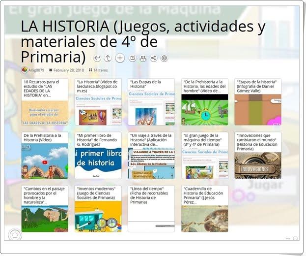 """""""14 Juegos, actividades y materiales para el estudio de LA HISTORIA en 4º de Primaria"""""""
