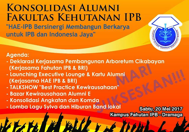 Banner Konsolidasi Himpunan Alumni Fakultas Kehutanan IPB.